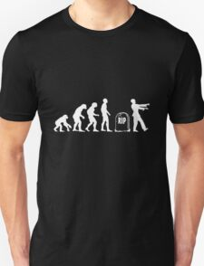 Scary and Funny zombie Evolution walking Unisex T-Shirt