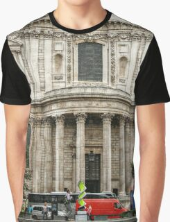 South Side Facade of Saint Paul's Cathedral Graphic T-Shirt