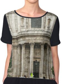 South Side Facade of Saint Paul's Cathedral Chiffon Top