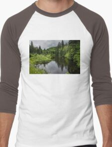 Forest Lake - Charlevoix, Quebec, Canada Men's Baseball ¾ T-Shirt