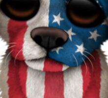 Cute Patriotic American Flag Puppy Dog Sticker