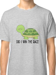 did i win the race, funny Animal Classic T-Shirt