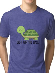 did i win the race, funny Animal Tri-blend T-Shirt