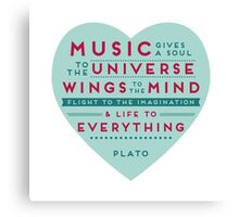 Music Plato Quote Canvas Print