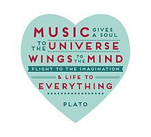 Music Plato Quote Photographic Print