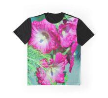 Pink White Green Graphic T-Shirt