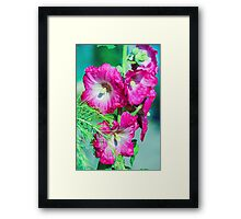 Pink White Green Framed Print