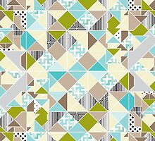 Geometric Beach Color Patterns by Jeri Stunkard