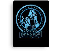 Will Osprey - Blue Canvas Print
