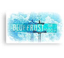 Blue Frost Drive Canvas Print