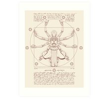 Vitruvian Omnic Art Print