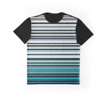 Abstract monochrome and blue horizontal linework Graphic T-Shirt