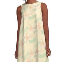 Plumeria Cream Delight A-Line Dress