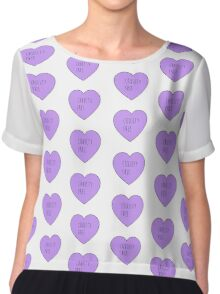 Cruelty Free Heart Chiffon Top