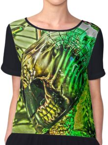 Spiked Green in HDR Chiffon Top