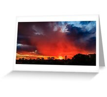 Fiery Sky, Menzies WA Australia Greeting Card