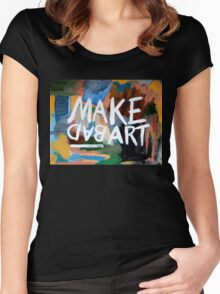 Make Bad Art Women's Fitted Scoop T-Shirt