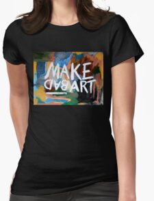 Make Bad Art Womens Fitted T-Shirt