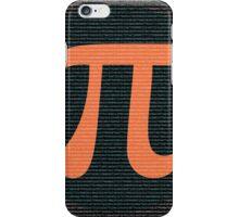 First 10,000 digits of Pi, blue and orange. iPhone Case/Skin