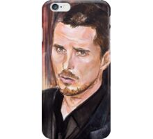 Christian Bale Portrait iPhone Case/Skin