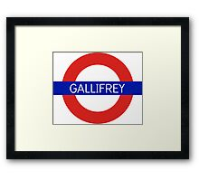 Gallifrey Station- Doctor Who Framed Print