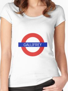 Gallifrey Station- Doctor Who Women's Fitted Scoop T-Shirt
