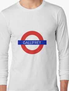 Gallifrey Station- Doctor Who Long Sleeve T-Shirt