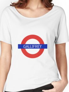 Gallifrey Station- Doctor Who Women's Relaxed Fit T-Shirt
