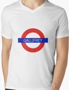 Gallifrey Station- Doctor Who Mens V-Neck T-Shirt