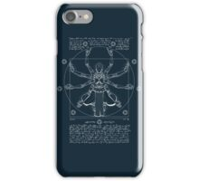 Vitruvian Omnic - white version iPhone Case/Skin