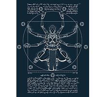Vitruvian Omnic - white version Photographic Print