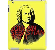 Johann Sebastian Bach vibrant portrait and text iPad Case/Skin