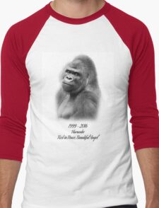 Rest in Peace, Harambe Men's Baseball ¾ T-Shirt