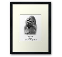 Rest in Peace, Harambe Framed Print