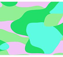green pink and turquoise abstract Photographic Print