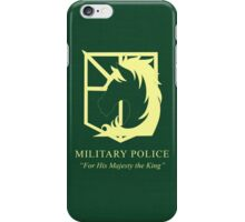 Attack on Titan Military Police iPhone Case/Skin