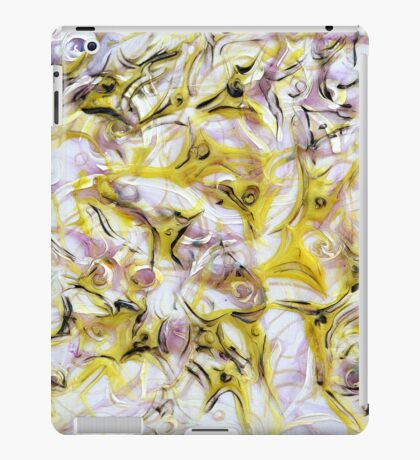 Neurology acrylic painting on panel iPad Case/Skin