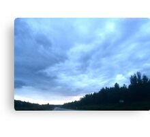 Alberta mountain clouds Canvas Print