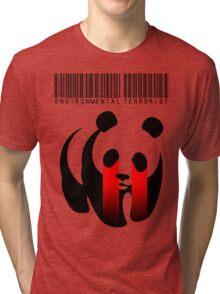 ENVIRONMENTAL TERRORIST Tri-blend T-Shirt