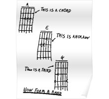 How To Play Guitar - Black Poster