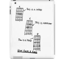 How To Play Guitar - Black iPad Case/Skin