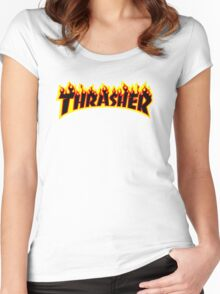 THRASHER Women's Fitted Scoop T-Shirt