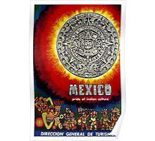 """AZTEC CALENDAR"" Travel to Mexico Print Poster"