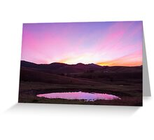 The Pink Pond - Gloucester NSW Australia Greeting Card