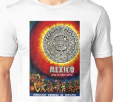 """AZTEC CALENDAR"" Travel to Mexico Print Unisex T-Shirt"