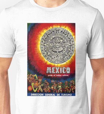 """AZTEC CALENDAR"" Travel to Mexico Print Unisex T-Shirt"