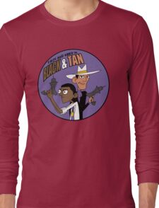 Troy and Abed in Black and Tan Long Sleeve T-Shirt
