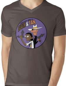 Troy and Abed in Black and Tan Mens V-Neck T-Shirt