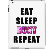 eat sleep hunt repeat iPad Case/Skin