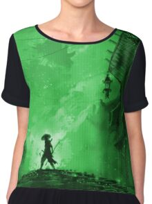 The Invitation - Spirit World Green Chiffon Top